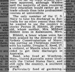 after war Hibbitt stayed in Australia