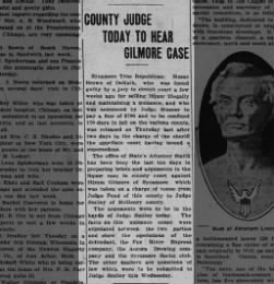 County Judge Today To Hear Gilmore Case