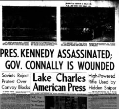 Kennedy Assasination Headline