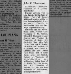 Obituary for John Calvin Thomason