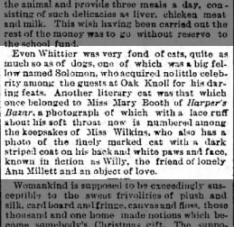 Mentions Mary Louise Booth's cat