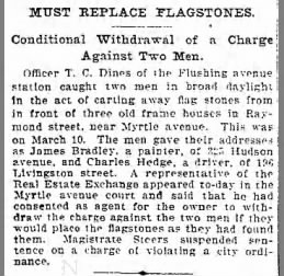 Charge Withdrawn James Bradley 1902