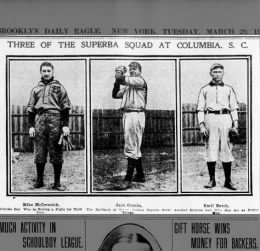 Brooklyn Daily Eagle, Mar 29 1904; Photo of McCormick, Cronin and Batch of Superbas