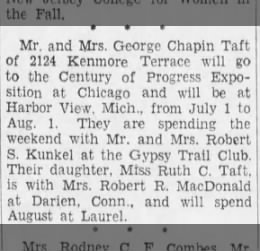 visit gypsy trail club  5/28/1933