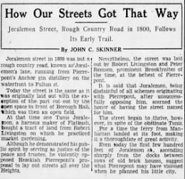 How Our Streets Got That Way - 4/8/29