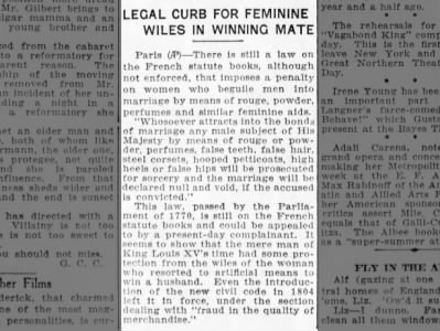 legal curb feminine wiles