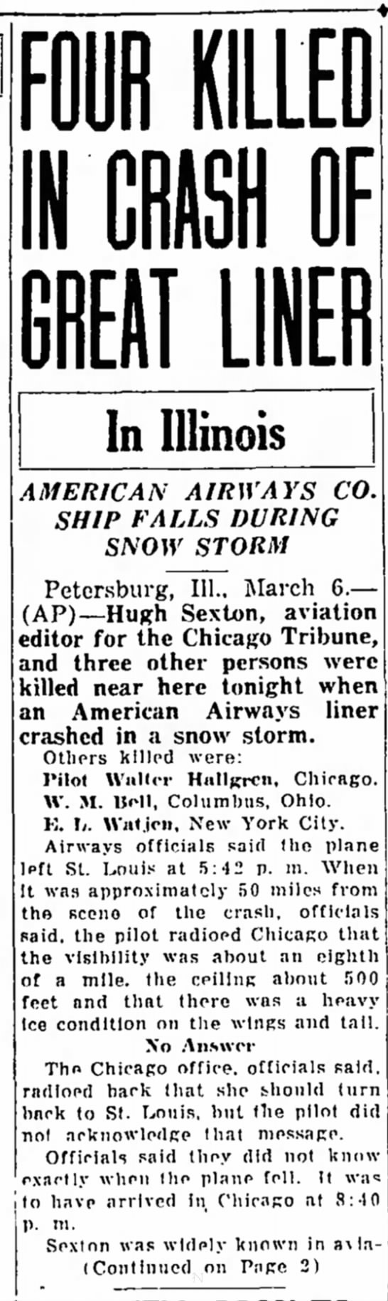 Knoles great liner accident page 1 7 march 1934