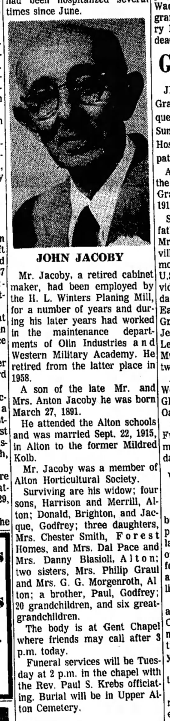 Anton Jacoby's son August 30, 1965