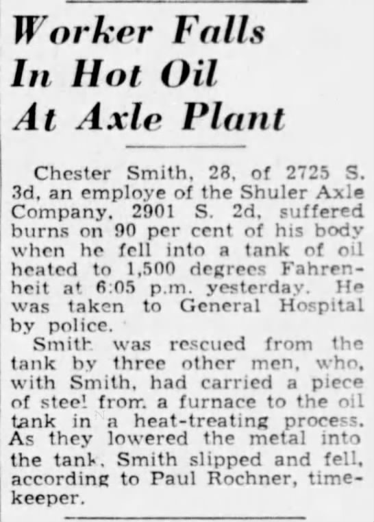 Chester Smith Death - Article