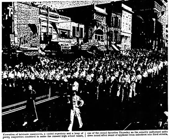 Mass Bands from Juab and Utah Counties - Centennial Parade July 24 1947- Keith Brady on front row