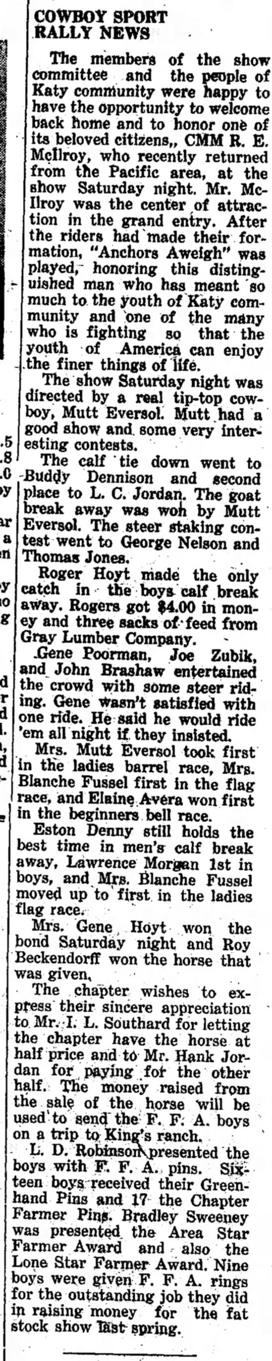 Joe Henry Sr. Steer Riding