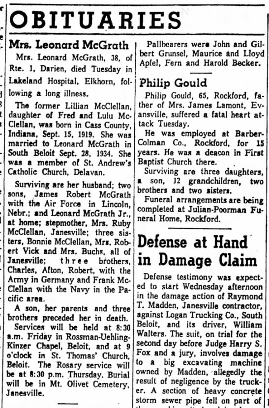 Janesville Daily Gazette, Janesville, Wisconsin, 14May1958, Wed, Page 2