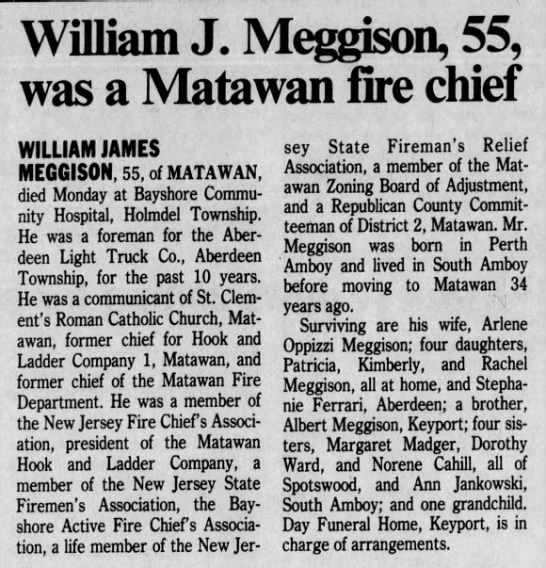 William James Meggison obituary