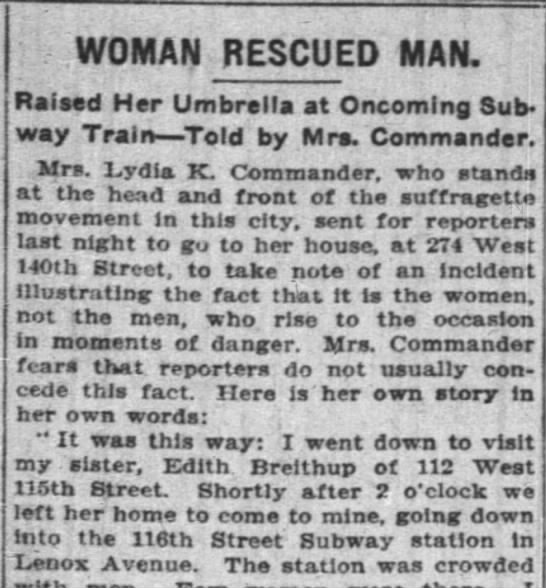 Suffragettes Save Man From Train
