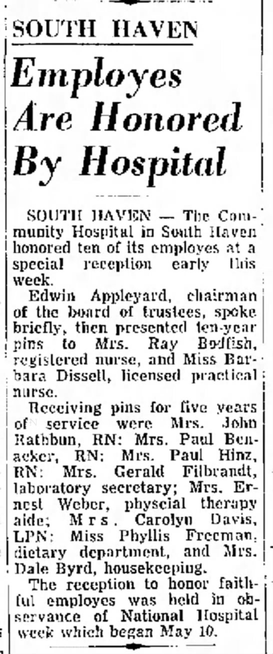Helen Marion Byrd honored at work