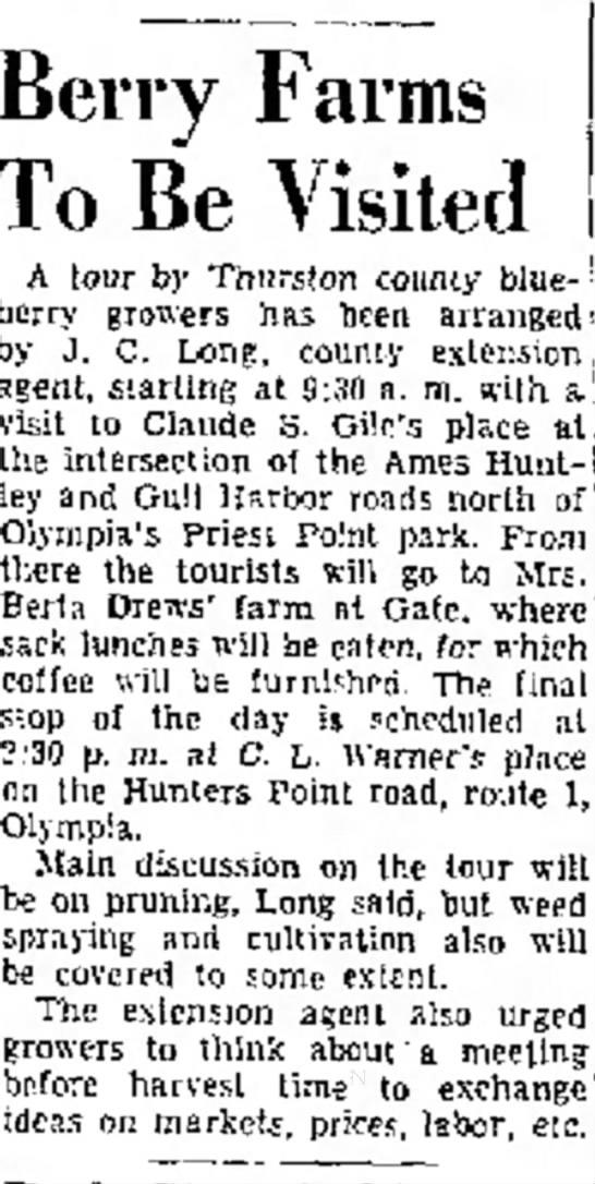 Warner's Blueberrry Farm, April 10, 1956, Page 10, Col. 3
