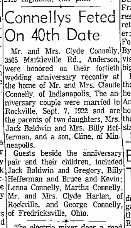 Clyde & Cletis Connelly anniversary