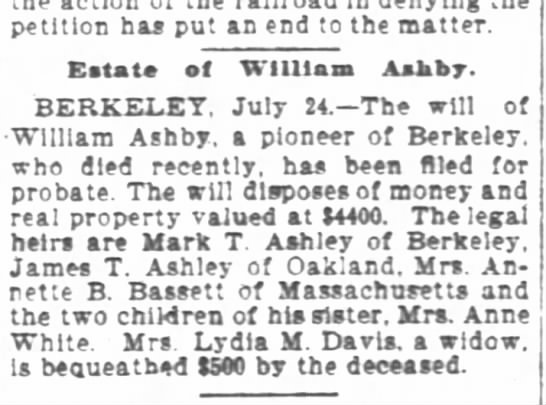 William T. Ashby Obit