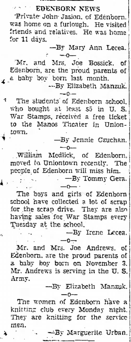 Edenborn News 03 Dec 1942