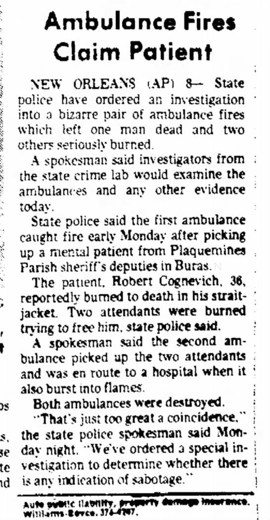 Robert Cognevich Ambulance 3
