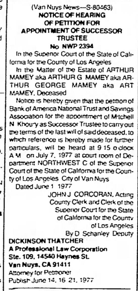 Arthur George Mamey
