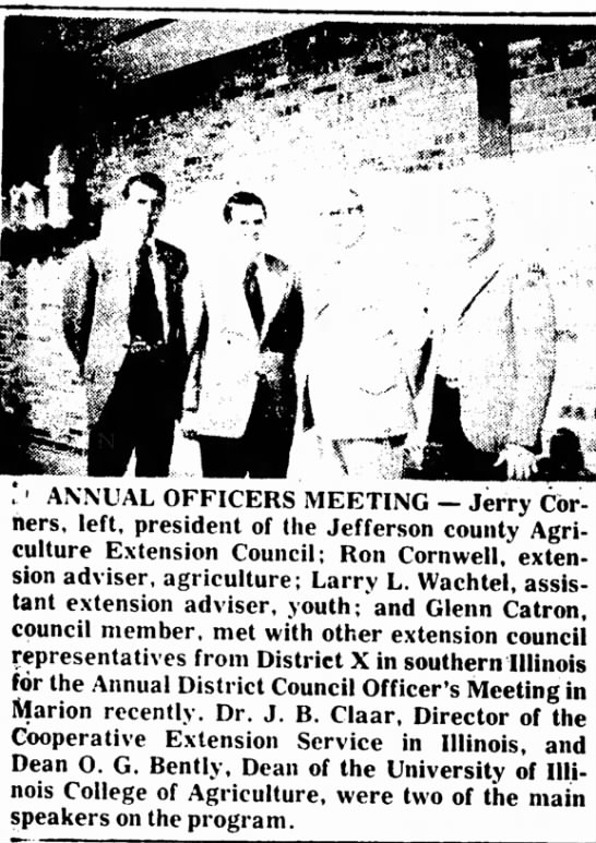 March 8, 1973--Ron Attends District Council Officer's Meeting