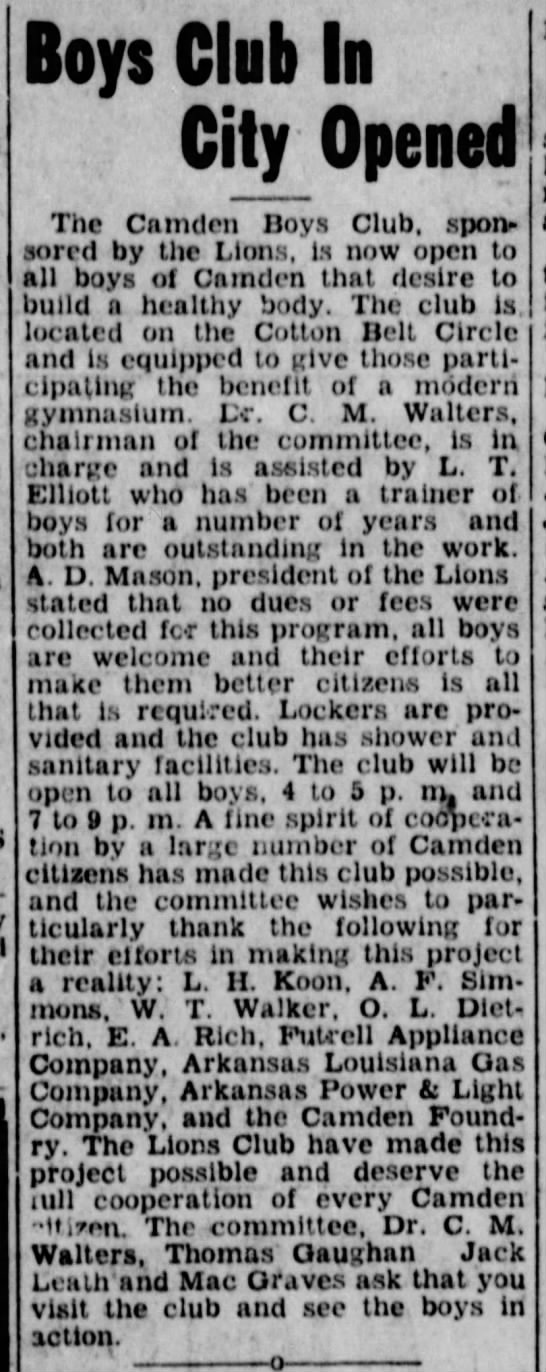 boys club open 2 apr 1948