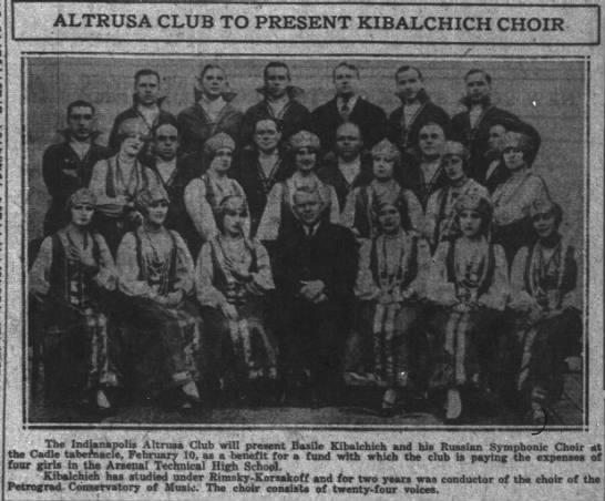 Kibalchich in Indianapolis, Indiana, Nov. 24, 1925