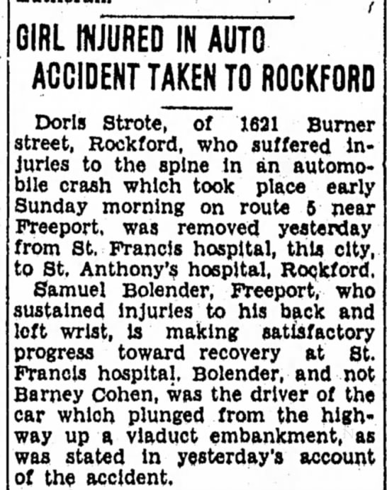 Doris Strote Car Crash 2