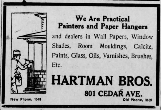 Hartman Bros Paint Advert