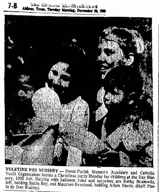 Kathy Brusewitz Abilene Reporter - News 24 Dec 1968