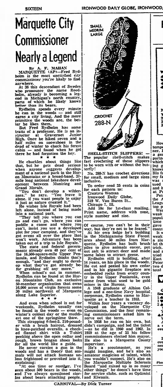 Ironwood Daily Globe 10 Jan 1963