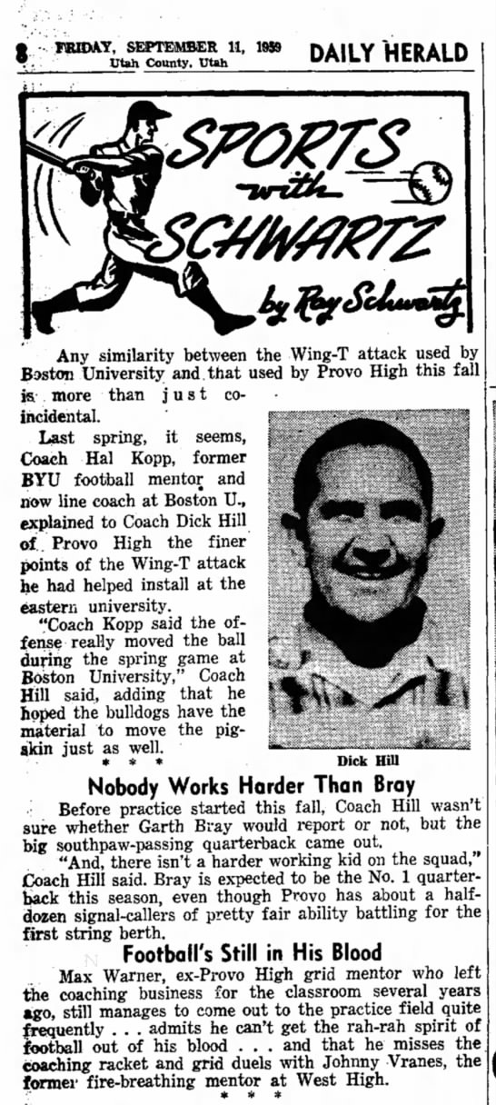 1959 Garth Bray Football