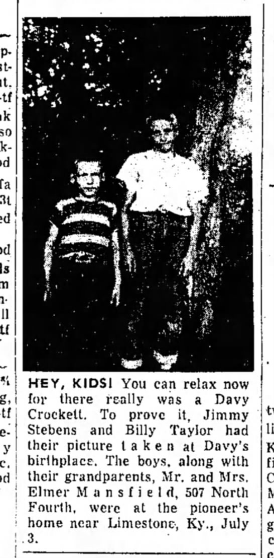 Jimmy and Billy July 1955