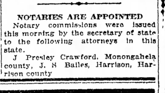 Bailes, JS 1920 notary, attorney?