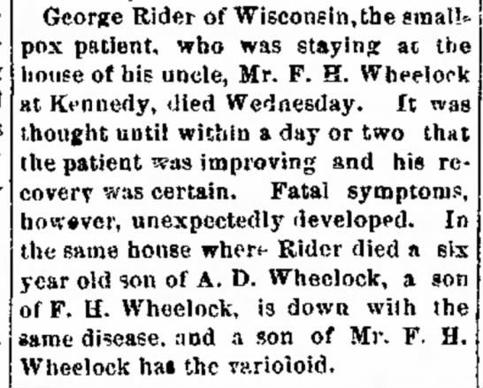 death at wheelcock house