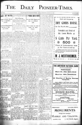 The Daily Deadwood Pioneer-Times from Deadwood, South Dakota on March 24, 1899 · Page 1