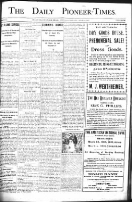 The Daily Deadwood Pioneer-Times from Deadwood, South Dakota on April 13, 1899 · Page 1
