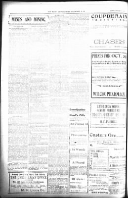 The Daily Deadwood Pioneer-Times from Deadwood, South Dakota on October 19, 1900 · Page 4