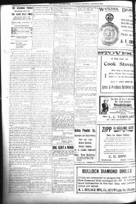 The Daily Deadwood Pioneer-Times from Deadwood, South Dakota on August 26, 1899 · Page 2