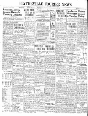 The Courier News from Blytheville, Arkansas on April 3, 1940 · Page 1