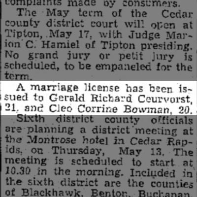 Muscatine News-Tribune12 May 1943
