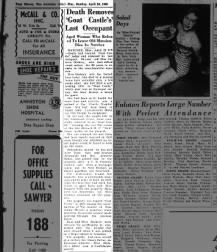 Octavia Dockery - Death Notice 4-24-1949