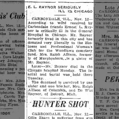 Ernie Raynor ill