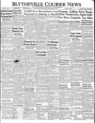 The Courier News from Blytheville, Arkansas on March 31, 1949 · Page 1