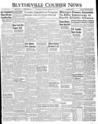 The Courier News from Blytheville, Arkansas on April 4, 1949 · Page 1