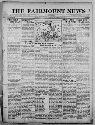 The Fairmount News from Fairmount, Indiana on September 29, 1921 · Page 1