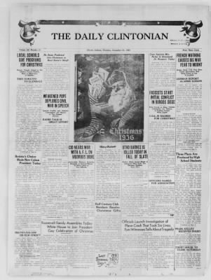 The Daily Clintonian from Clinton, Indiana on December 24, 1936 · Page 1
