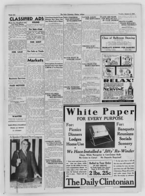 The Daily Clintonian from Clinton, Indiana on January 5, 1937 · Page 6