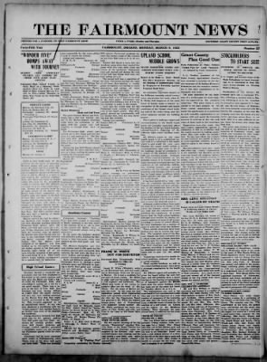 The Fairmount News from Fairmount, Indiana on March 6, 1922 · Page 1